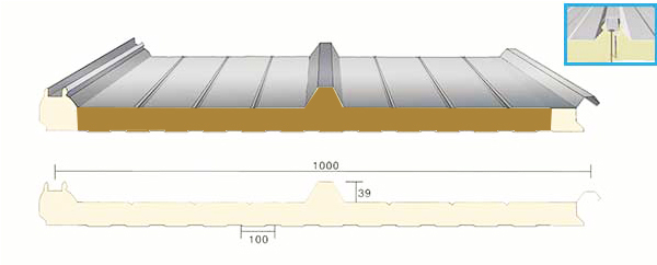 insulated roof panel model type
